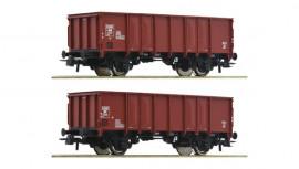 76136 Set de 2 Wagons de marchandises découvert de la NS
