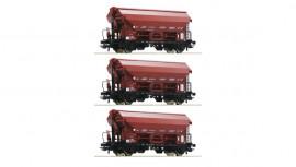 76179  Set de 3 Wagons à toit pivotant de la SNCB