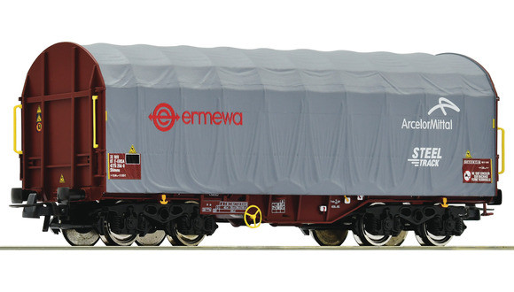 76447 WAGON A BACHE COULISSANTE ERMEWA ARCELOR MITTAL SNCF