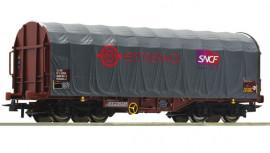 76450 Wagon baché gris à bogies livrée ERMEWA