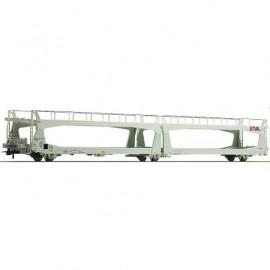 76838 Wagon porte-autos STVA livrée gris avec 3 essieux