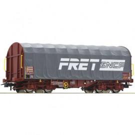 76443 Wagon baché gris à bogies livrée FRET