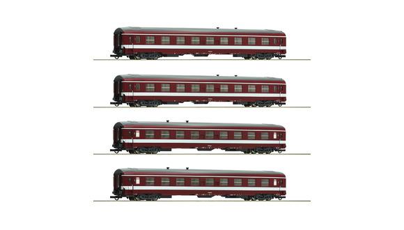 74109 Coffret de 4 voitures première classe livrée «CAPITOLE»